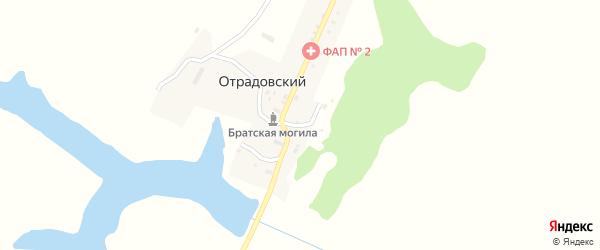 Речная улица на карте Отрадовского поселка с номерами домов