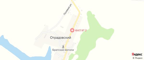 Широкая улица на карте Отрадовского поселка с номерами домов