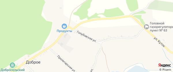 Голубовская улица на карте Доброго села с номерами домов