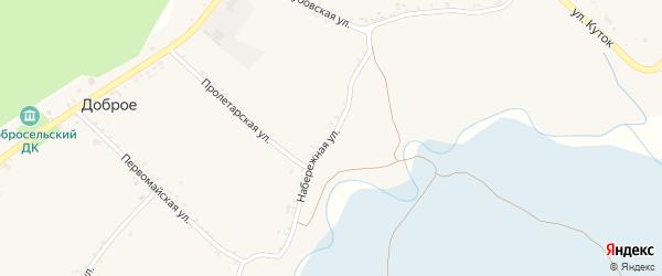 Набережная улица на карте Доброго села с номерами домов