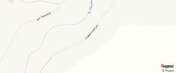 Советская улица на карте села Ивановской Лисицы с номерами домов