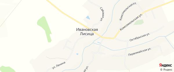 Карта села Ивановской Лисицы в Белгородской области с улицами и номерами домов