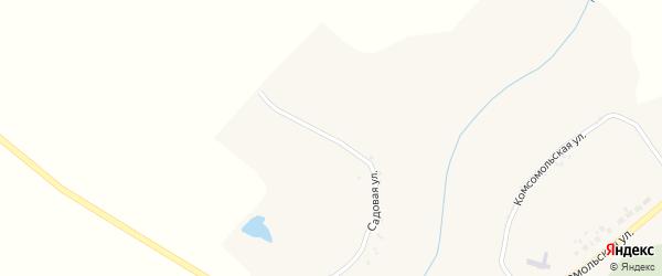 Садовая улица на карте села Ивановской Лисицы с номерами домов