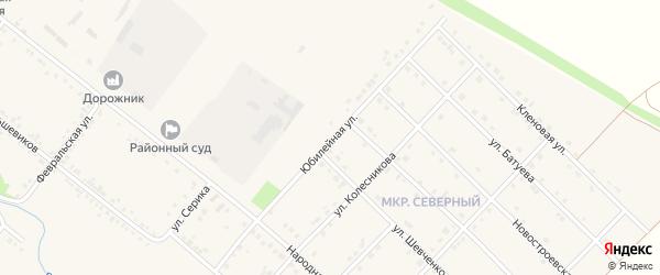 Юбилейная улица на карте Грайворона с номерами домов