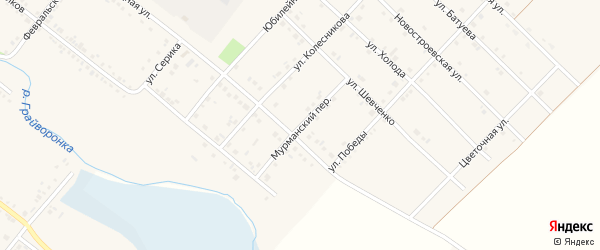 Мурманский переулок на карте Грайворона с номерами домов