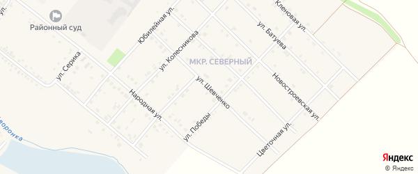 Улица Шевченко на карте Грайворона с номерами домов