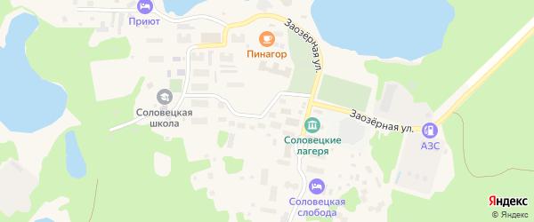 Улица П.Флоренского на карте Соловецкого поселка с номерами домов