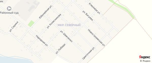 Улица Победы на карте Грайворона с номерами домов