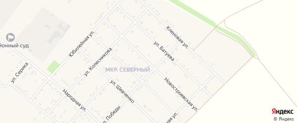 Новостроевская улица на карте Грайворона с номерами домов
