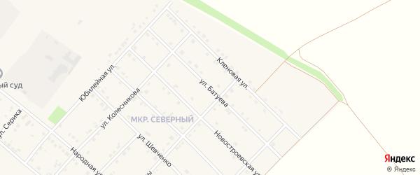 Улица Батуева на карте Грайворона с номерами домов