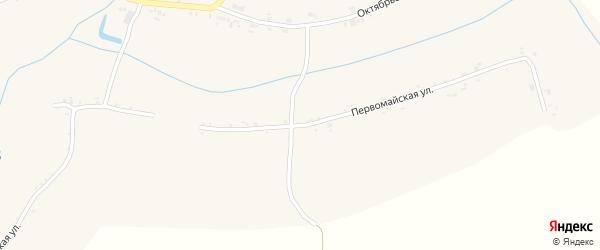Первомайская улица на карте села Ивановской Лисицы с номерами домов