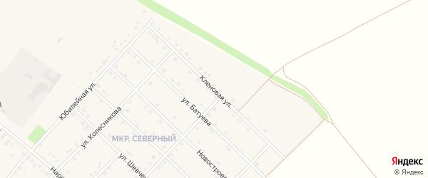 Кленовая улица на карте Грайворона с номерами домов