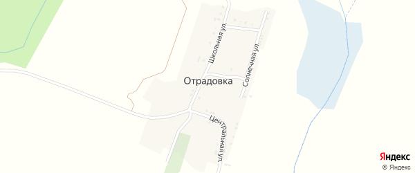 Солнечная улица на карте села Отрадовки с номерами домов