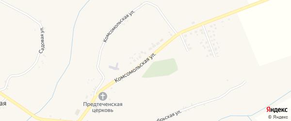Комсомольская улица на карте села Ивановской Лисицы с номерами домов