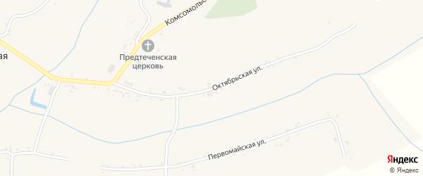 Октябрьская улица на карте села Ивановской Лисицы с номерами домов