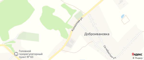 Колхозная улица на карте Доброго села с номерами домов