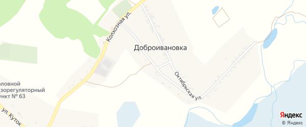 Красноармейская улица на карте села Доброивановки с номерами домов
