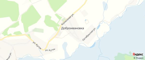 Карта села Доброивановки в Белгородской области с улицами и номерами домов
