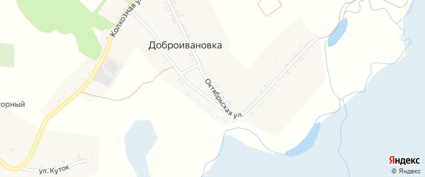 Октябрьская улица на карте села Доброивановки с номерами домов
