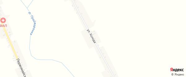 Улица Холода на карте села Новостроевки-Первой с номерами домов