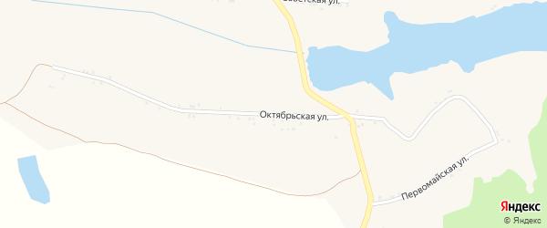 Октябрьская улица на карте села Русской Березовки с номерами домов