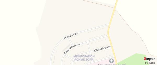 Полевая улица на карте Солдатского села с номерами домов