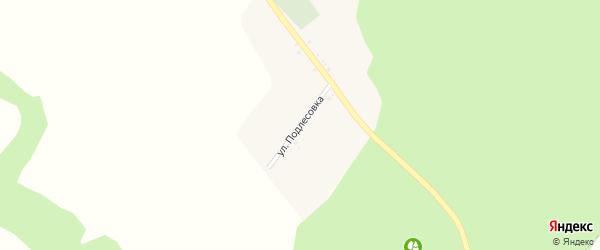 Улица Подлесовка на карте села Русской Березовки с номерами домов