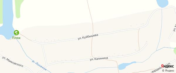 Улица Куйбышева на карте села Казачьей Лисицы с номерами домов