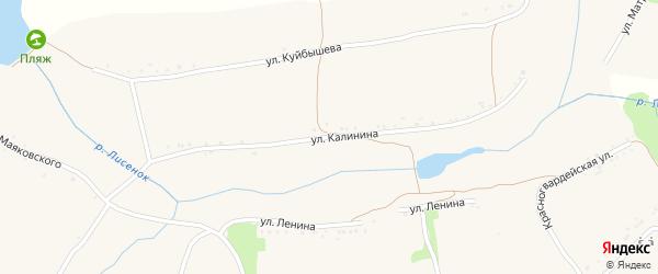 Улица Калинина на карте села Казачьей Лисицы с номерами домов