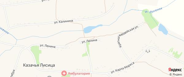 Улица Ленина на карте села Казачьей Лисицы с номерами домов