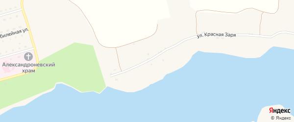 Улица Красная Заря на карте Солдатского села с номерами домов