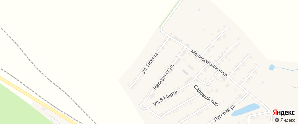 Улица Гирича на карте Пролетарского поселка с номерами домов