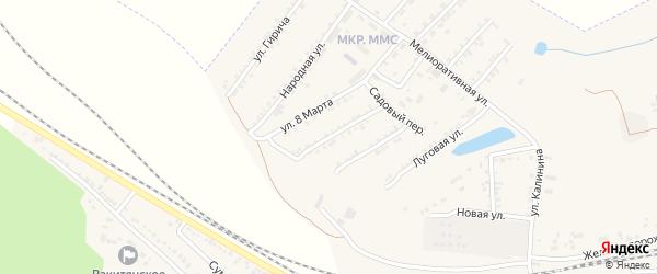 Советская улица на карте Пролетарского поселка с номерами домов