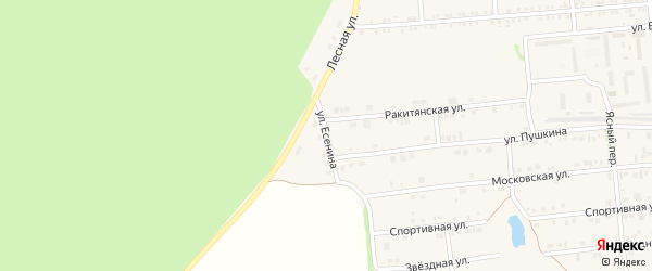 Улица Есенина на карте Пролетарского поселка с номерами домов