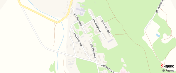 Комсомольская улица на карте городка Белгорода-22 с номерами домов