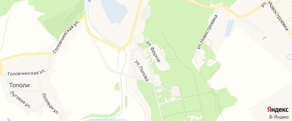 Карта городка Белгорода-22 в Белгородской области с улицами и номерами домов