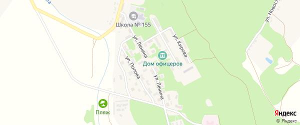 Садовая улица на карте городка Белгорода-22 с номерами домов
