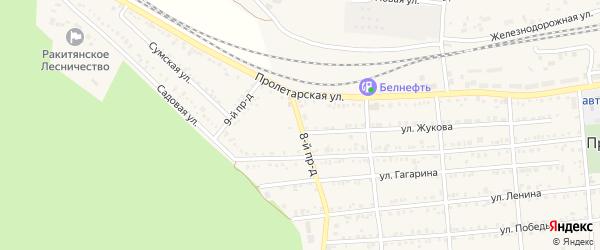 Переулок 8 Проезд на карте Пролетарского поселка с номерами домов