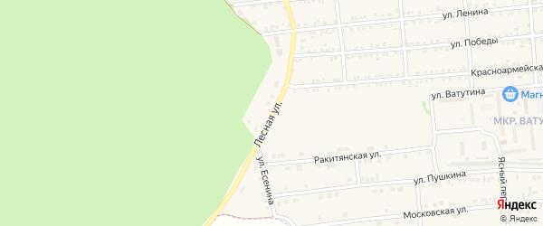 Лесная улица на карте Пролетарского поселка с номерами домов