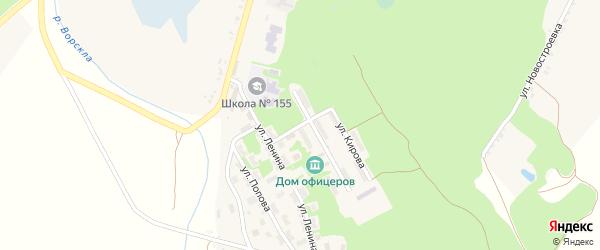 Улица Фрунзе на карте городка Белгорода-22 с номерами домов