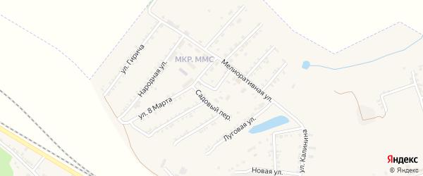 Садовый переулок на карте Пролетарского поселка с номерами домов