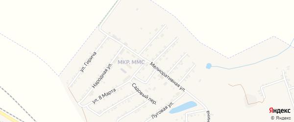 Мелиоративная улица на карте Пролетарского поселка с номерами домов