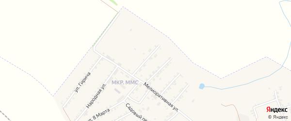 Центральный переулок на карте Пролетарского поселка с номерами домов