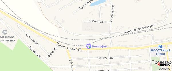 Новая улица на карте Пролетарского поселка с номерами домов