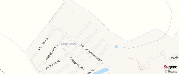 Мелиоративный переулок на карте Пролетарского поселка с номерами домов