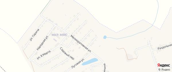 Северный переулок на карте Пролетарского поселка с номерами домов