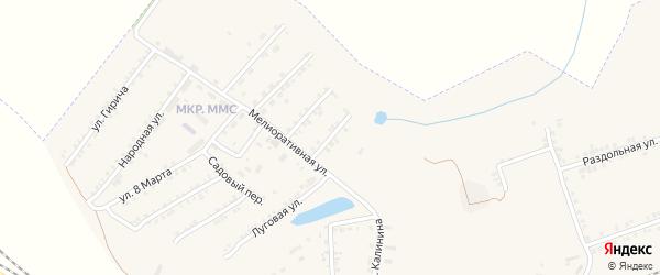 Зеленый переулок на карте Пролетарского поселка с номерами домов