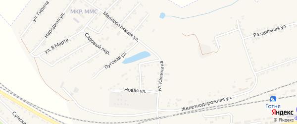Переулок Калинина на карте Пролетарского поселка с номерами домов