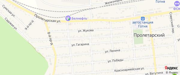 Садовая улица на карте Новозинаидинского села с номерами домов