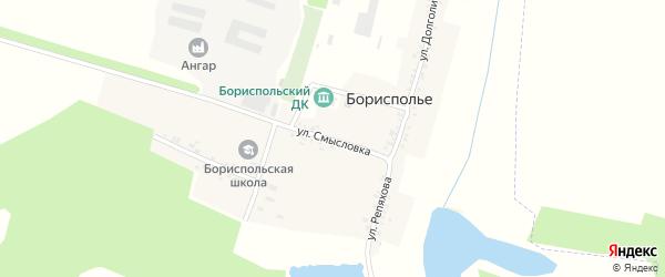 Улица Смысловка на карте села Борисполья с номерами домов